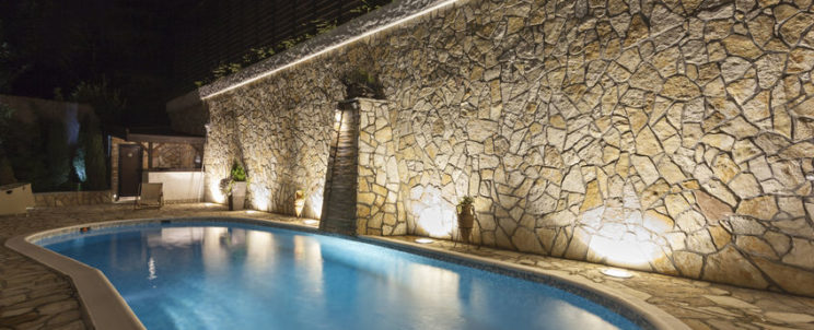 37278396 - private swimming pool at night