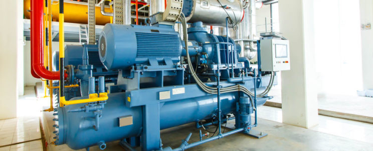 66380883 - industrial compressor refrigeration station at manufacturing factory