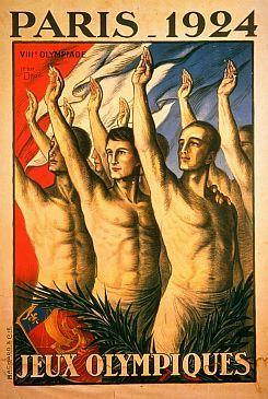 Az 1924-es párizsi olimpia hivatalos plakátja